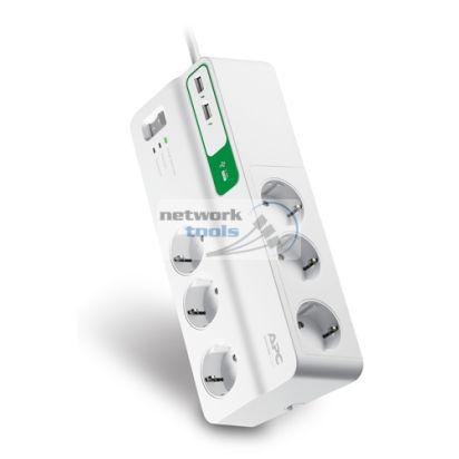 APC PM6U-RS Сетевой фильтр на 6 розеток и 2 USB