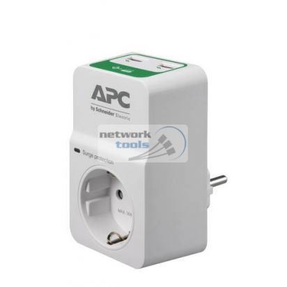 APC PM1WU2-RS Сетевой фильтр 1 розетка, 2xUSB