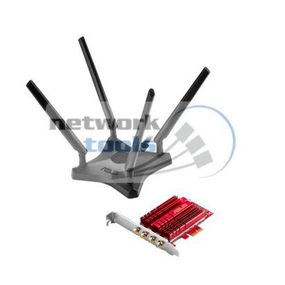 ASUS PCE-AC88 Двухдиапазонный PCI Exp адаптер Wi-Fi стандарта AC 3100Mbps