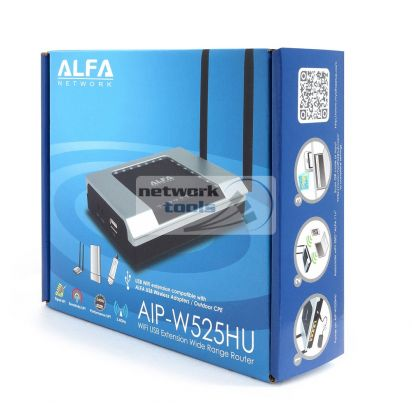 Alfa Network AIP-W525HU Высокомощный WI-FI маршрутизатор-точка доступа 300Mbps с USB портом