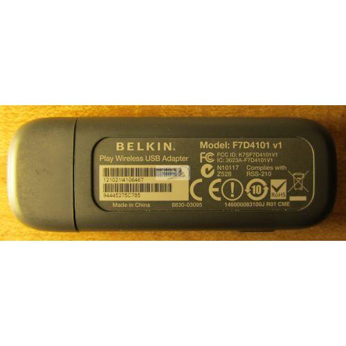 NEW DRIVER: BELKIN WIRELESS USB ADAPTER F7D4101