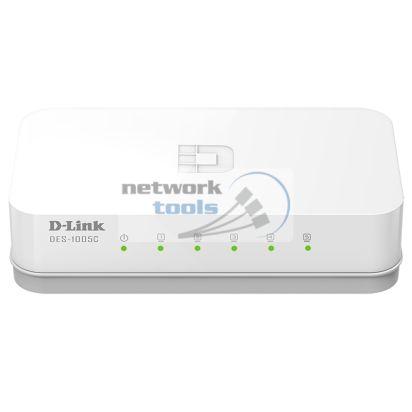 D-Link DES-1005C Неуправляемый коммутатор с 5 портами 10/100Base-TX