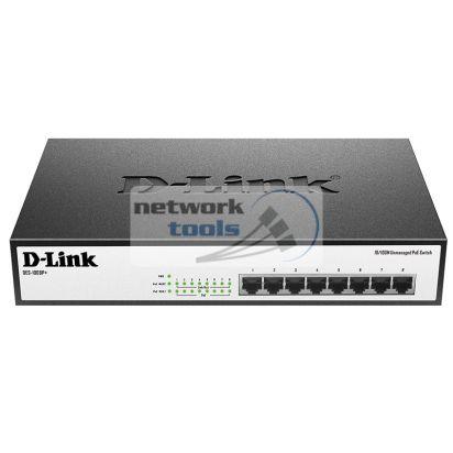 D-Link DES-1008P+ Неуправляемый коммутатор с 8 портами 10/100Base-TX с поддержкой PoE