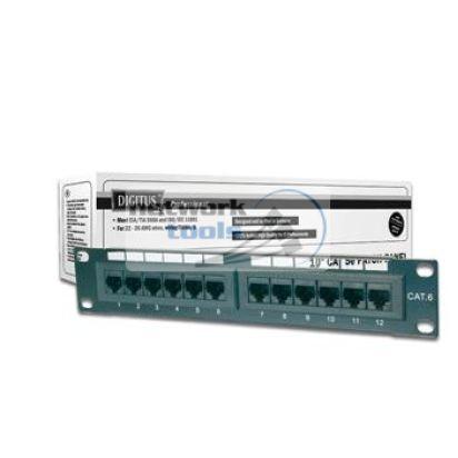 """DIGITUS DN-91512U Патч-панель 10"""" 1U 12 портов UTP в сборе"""