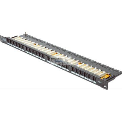 """DIGITUS DN-91624U-SL-SH Патч-панель 19"""" 0.5U, 24 порта, cat 6 UTP в сборе"""