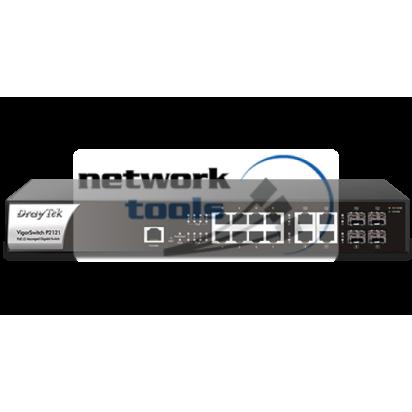 DrayTek VigorSwitch P2121 Коммутатор 8 порт POE, 1000Base-TX, 4xSFP Combo