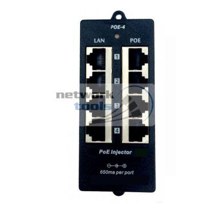 ExtraLink POE4PB Инжектор POE 4 порта для IP-камер