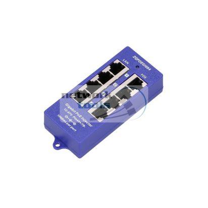 ExtraLink POE4PG Инжектор POE 4 порта Gigabit для IP-камер