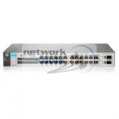 HP Network 1810-24 V2 J9801A Настраиваемый коммутатор 22 порт 100Base-TX 2 порт 1000Base-TX