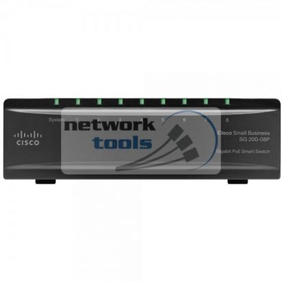 Linksys Cisco SB SG200-08P Коммутатор 8 порт 100Base-TX с PoE