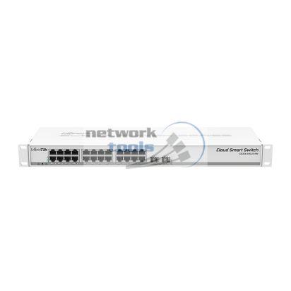 Mikrotik CSS326-24G-2S+RM Управляемый коммутатор 24 Гигабитных порта и 2 SFP+