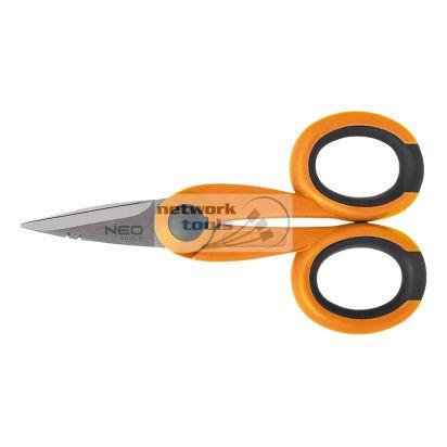 Ножницы NEO Tools 01-551 для кабеля и изолирующей оболочки, 140 мм, 14-22 мм
