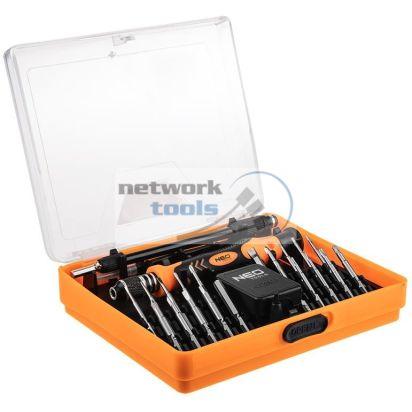 NEO Tools 06-110 Набор прецизионных насадок с держателем, 23 ед