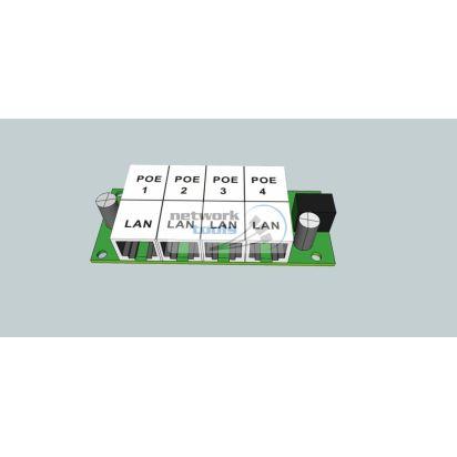 ExtraLink PoE Injector 4 LAN Инжектор POE для IP камер