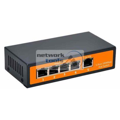 NETSODIS PS105 Коммутатор неуправляемый 5-портовый 100Мбит PoE