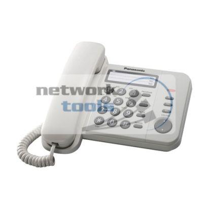 Телефон проводной Panasonic KX-TS2352UAW, белого цвета