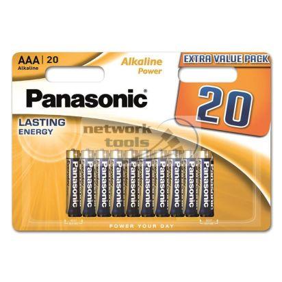 Батарейки Panasonic Alkaline Power AAA BLI 20