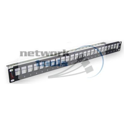 Premium OEM Патч-панель 24 порта наборная 1U для модулей Keystone UTP
