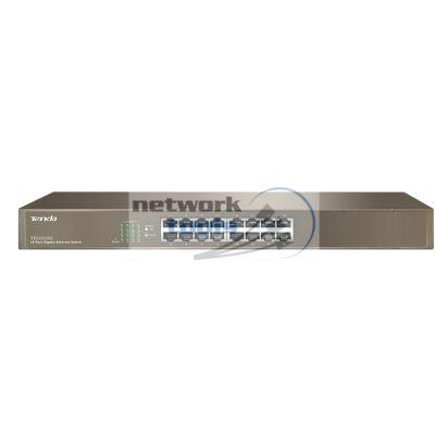 TENDA TEG1016g Коммутатор неуправляемый 16-порт 1000Мбит, металл кейс