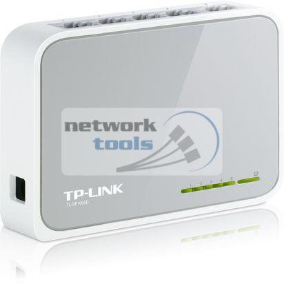 TP-Link TL-SF1005D Коммутатор неуправляемый 5-портовый 100Мбит