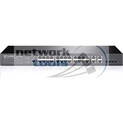 TP-Link TL-SL5428E (T2500-28TC) Коммутатор 24 порт 100Base-TX, 4xSFP и RS232-порт