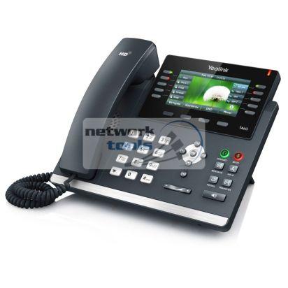 Yealink SIP-T46G SIP-телефон с LCD дисплеем, POE