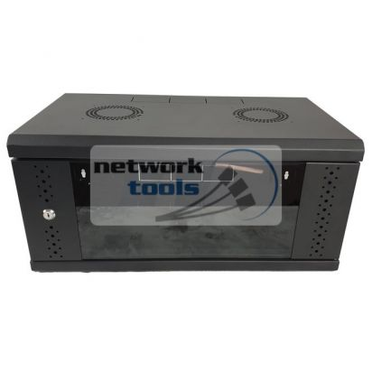 Черный серверный шкаф 6U размером 600х500х370 мм