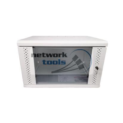 Серверный шкаф 9U с дверью из закаленного стекла