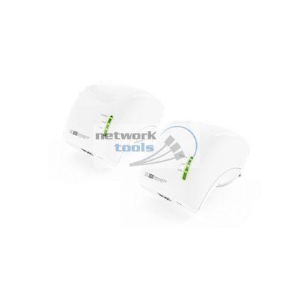 Netsodis NWP501M2 Комплект сетевых адаптеров PowerLine 2шт AV200, Wi-Fi