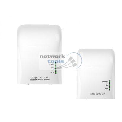 Netsodis NWP501WM Комплект сетевых адаптеров PowerLine 2шт AV500, Wi-Fi 5 ГГц