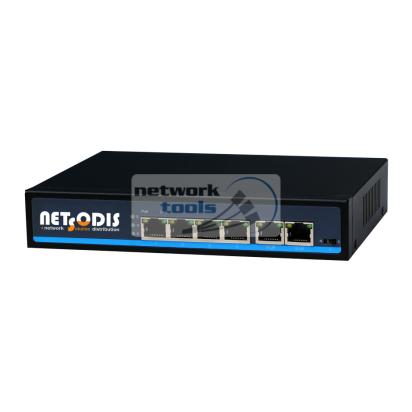 NETSODIS PS106 Коммутатор неуправляемый 6-портовый 100Мбит 4xPoE
