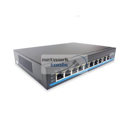 NETSODIS PS210 Коммутатор неуправляемый 8-портовый 100 Mbps, PoE